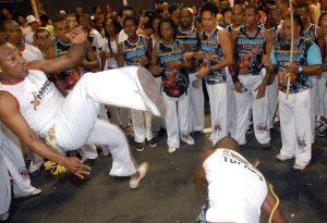 Capoeira en Salvador da Bahía.