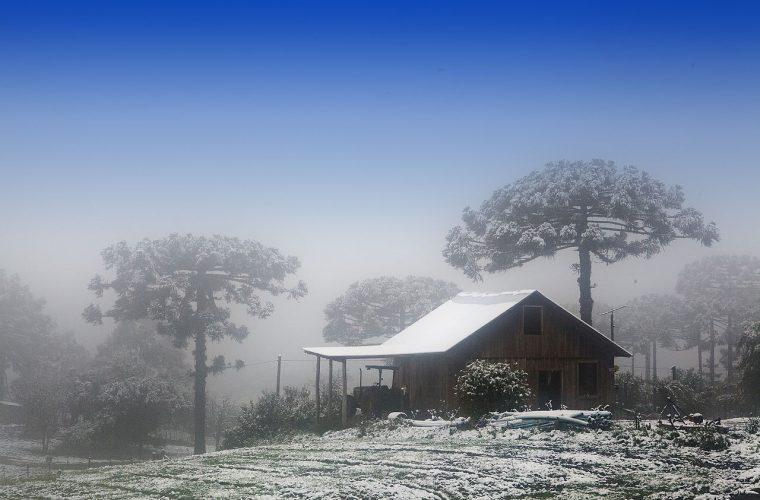 Nieve en Caxias do Sul, Río Grande del Sur.