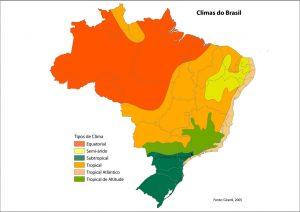 Diferentes tipos de clima en Brasil