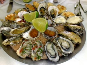 Plato de ostras de Florianópolis