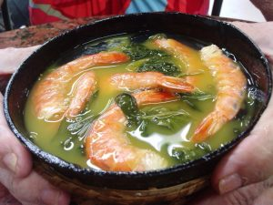 La tacaca es un plato popular en la zona amazónica.
