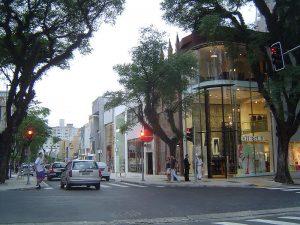 Tiendas en la avenida Rua Oscar Freire, Sau Paulo