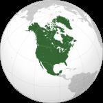 Ubicación de América del Norte
