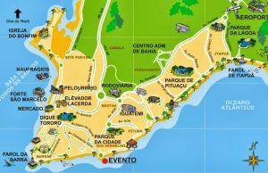 Mapa de Salvador de Bahía