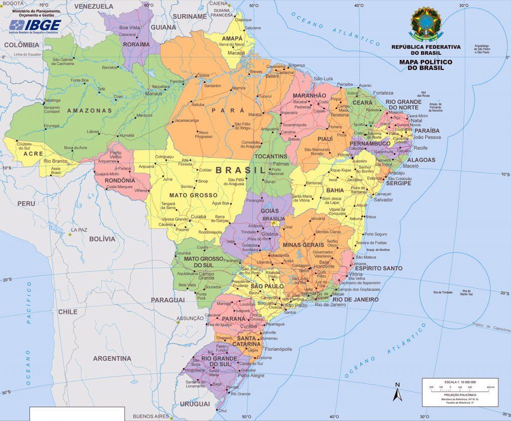 mapa mapa Mapa de Brasil   Turismo Brasil mapa mapa