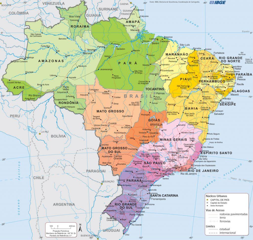mapa de brasil Mapa de Brasil   Turismo Brasil mapa de brasil